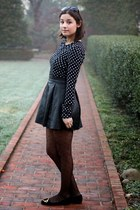 black Reformation skirt - black Reformation dress - black Nordstrom stockings