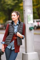 gray wool vest J McLaughlin vest