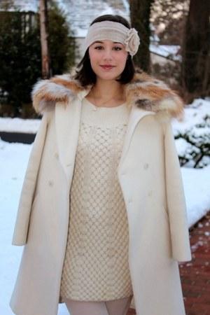 ivory Rebecca Taylor dress - ivory Elizabeth and James coat