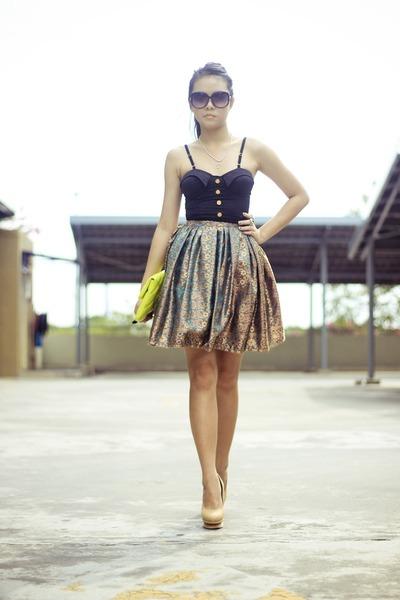 noona skirt - Mango bag - clothinc top