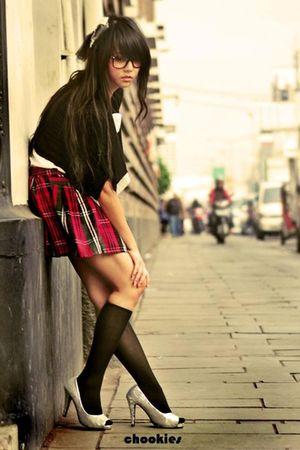 black Body&Soul cardigan - unbranded skirt