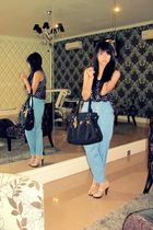 Miu Miu top - Steve Madden shoes - Forever 21 accessories - Prada accessories