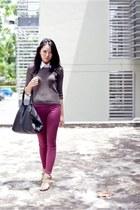 ellysage leggings - vintage blouse