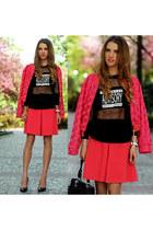 hot pink Zara jacket
