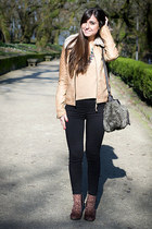 Zara jacket - Sfera bag - Marypaz flats - Sfera necklace - Bershka t-shirt
