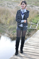 asos jacket - milanoo boots - H&M pants - Forever 21 jumper