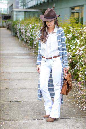 Zara boots - Mango jeans - Zara hat - Mango shirt - asos cardigan
