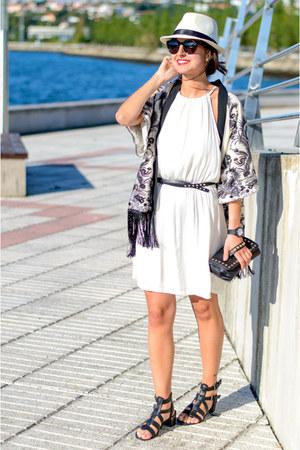 Bershka dress - Simplemente Luna jacket - SIX bag - asos sandals