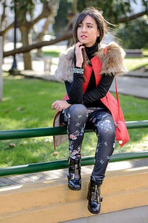 ALALÁ vest - asos boots - Mango pants - new look accessories
