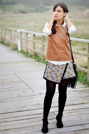 Bershka vest - River Island skirt - asos heels