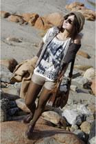 Bershka shorts - el corte ingles hat - Bershka t-shirt - Bershka vest