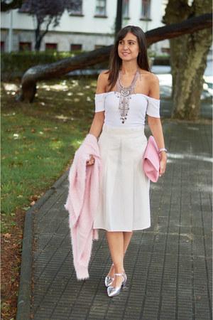 new look bag - asos top - Zara skirt - new look heels