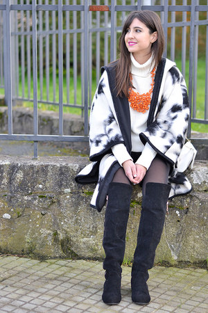Zara coat - milanoo boots - Forever 21 jumper - Zara necklace