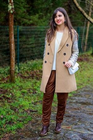bdba jacket - Stradivarius coat - colett pants