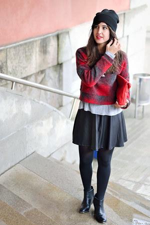 asos boots - Stradivarius skirt - Mango jumper