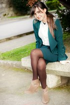 suiteblanco blazer - Zara boots - Stradivarius shirt - suiteblanco skirt
