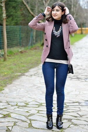 suiteblanco jacket - asos shoes - Bershka jeans - Sfera necklace