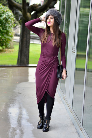 Missguided hat - asos boots - H&M dress - Bershka bag