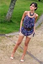 Sfera dress - Primark shorts - H&M necklace - Zara sandals - Sfera belt