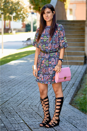 River Island dress - new look bag - Forever 21 sandals