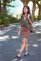 suiteblanco top - Stradivarius heels - new look skirt - suiteblanco necklace