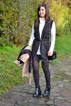Mango vest - asos boots - Stradivarius skirt - Forever 21 jumper