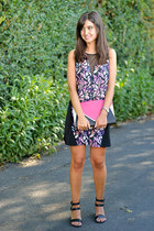 Forever 21 dress - Primark bag - JustFab heels