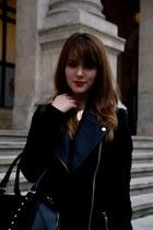 Pimkie coat - Pimkie bag - H&M necklace