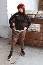 black Sexy Dynamite London blouse - brown kohls leggings - silver kohls belt - b