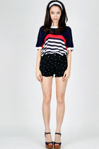 knitted stripe DIDD top