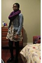 deep purple knit scarf - black creepers streetwear society shoes