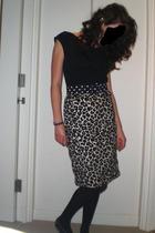 Topshop t-shirt - vintage belt - H&M skirt - Marks and Spencers tights - Melissa