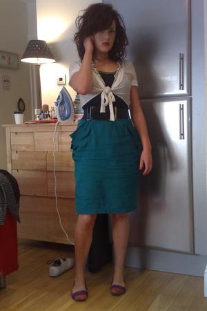 kimchi & blue - allsaints - Topshop belt - allsaints skirt