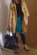 Primark coat - Lux blouse - allsaints skirt - American Apparel