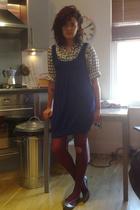 vintage shirt - H&M dress - Topshop - Melissa shoes