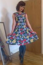 vintage dress - Topshop tights - Topshop
