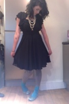 Topshop dress - grans - wolfords - cant remember socks - Kurt Geiger shoes - a s