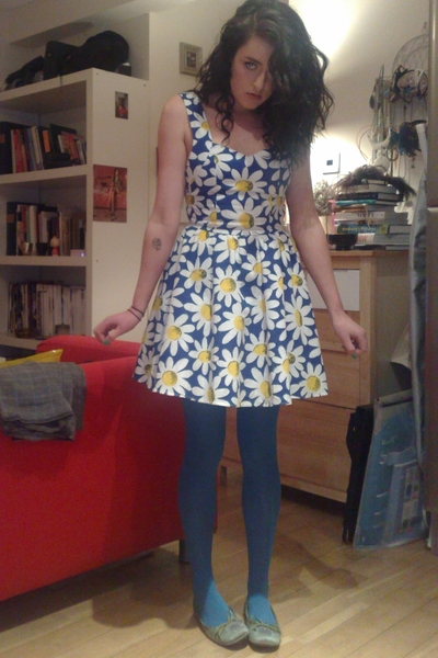 vintage from Beyond Retro dress - Topshop tights - Kurt Geiger shoes