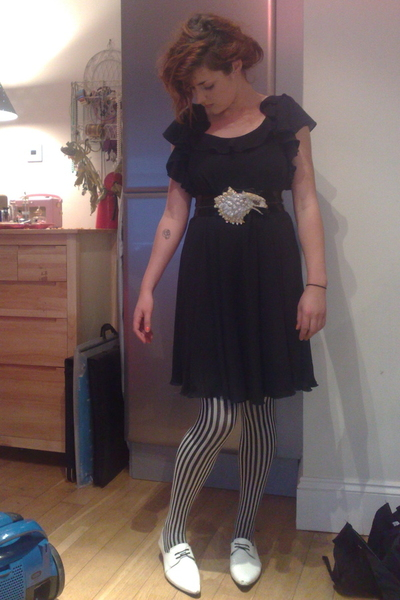 Topshop dress - vintage belt - wolfords - River Island