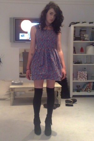 Topshop dress - found in the bottom of my wardrobe socks - Jeffrey Campbell boot