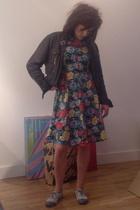 Topshop jacket - dress - new look shoes