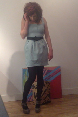 River Island dress - M&S tights - Topshop shoes