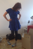 Topshop dress - H&M tights - socks - new look shoes