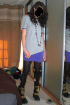 H&M t-shirt - American Apparel dress - Marks and Spencers tights - Jeffrey Campb