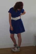 Topshop dress - vintage belt - Converse shoes