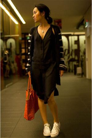 winding back Therese Rawsthorne dress - st louis pm goyard bag
