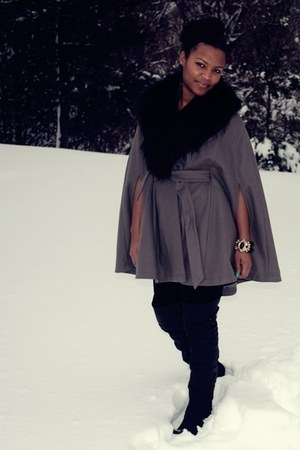 black Jeffrey Campbell boots - heather gray Target cape