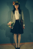 vintage blazer - ginatricot skirt - hm blouse