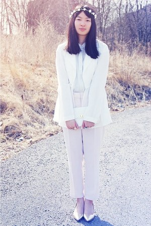 white GINA TRICOT blazer - floral Accessorize hair accessory