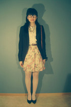lindex blazer - primark skirt - din sko heels